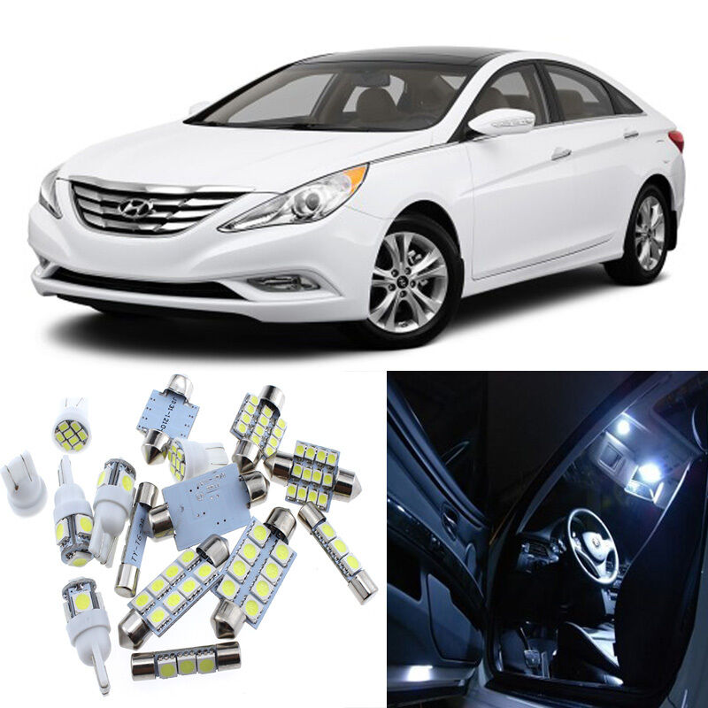 10pcs white interior led light package kit for hyundai sonata 2011 2014 ebay for Led car interior lights ebay