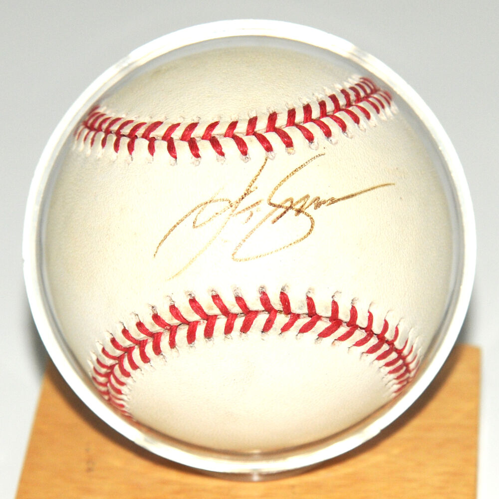 8156ec754a8 Details about JT Snow Autographed Baseball with Display Stand San Francisco  Giants No COA MLB