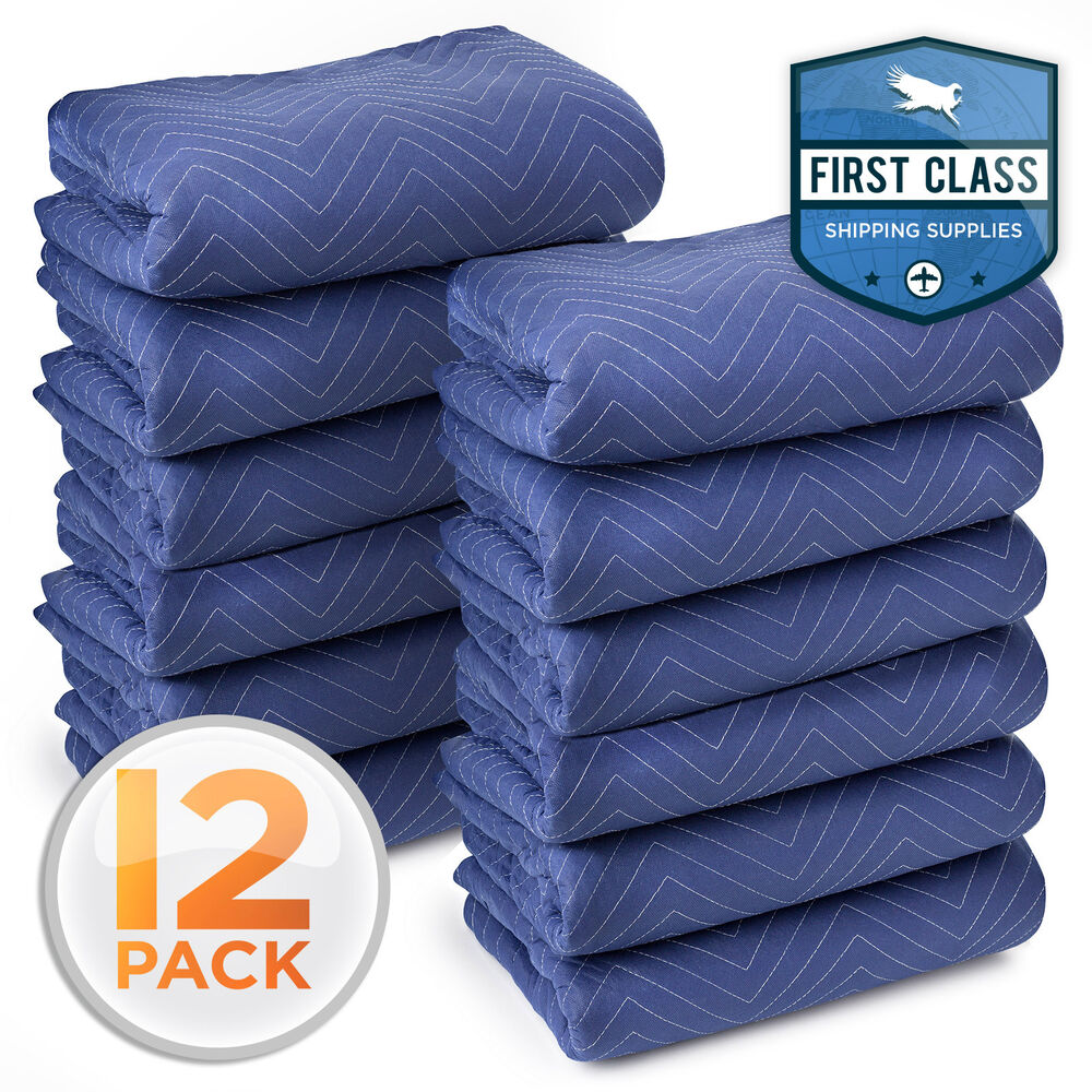 Deluxe Pro Moving Blankets Padded Furniture Pads 12 Pk 72