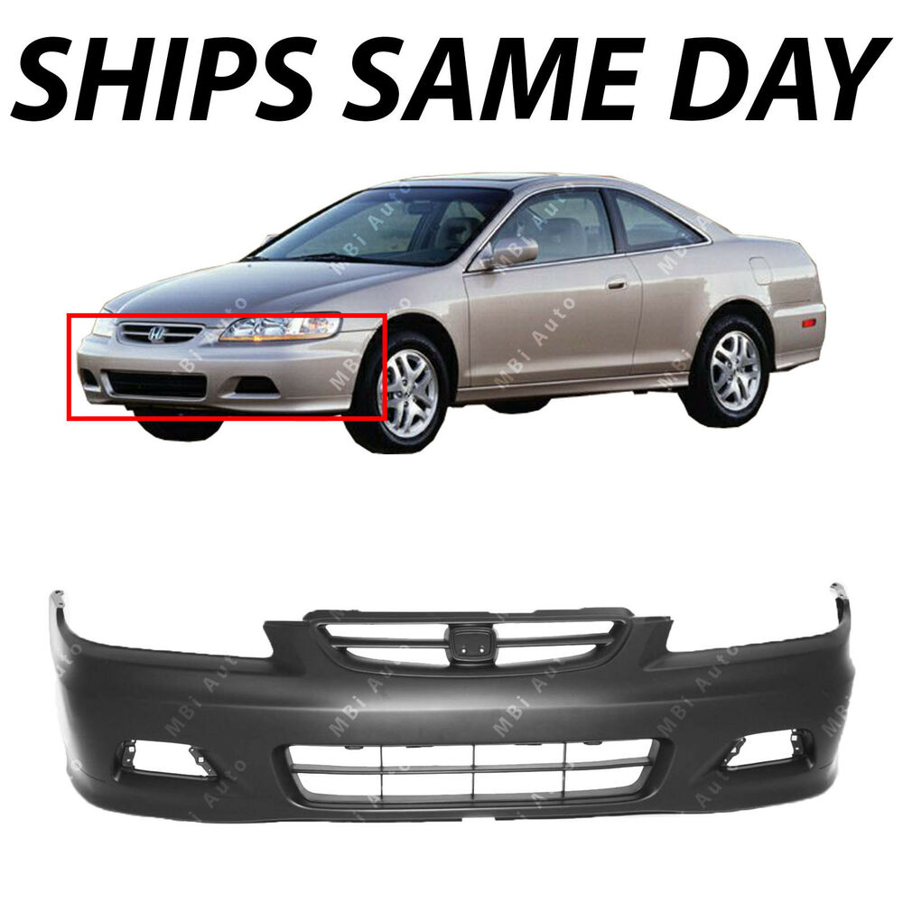 New Primered - Front Bumper Cover For 2001 2002 Honda ...