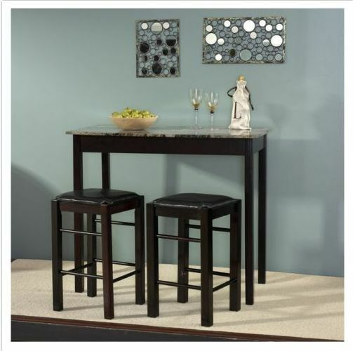 breakfast nook tables with chairs set bar counter height high small stools new ebay. Black Bedroom Furniture Sets. Home Design Ideas