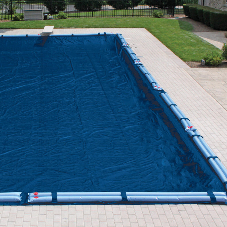 Harris 16 year winter cover for inground rectangular pools ebay for How to winterize an inground swimming pool