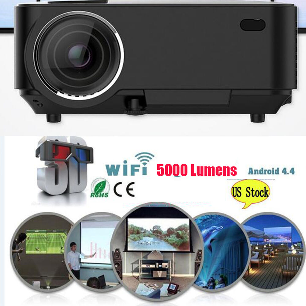 Mini 1080p Full Hd Led Projector Home Theater Cinema 3d: 4K 3D Wifi DLP Mini Portable Full HD 1080P Home Theater