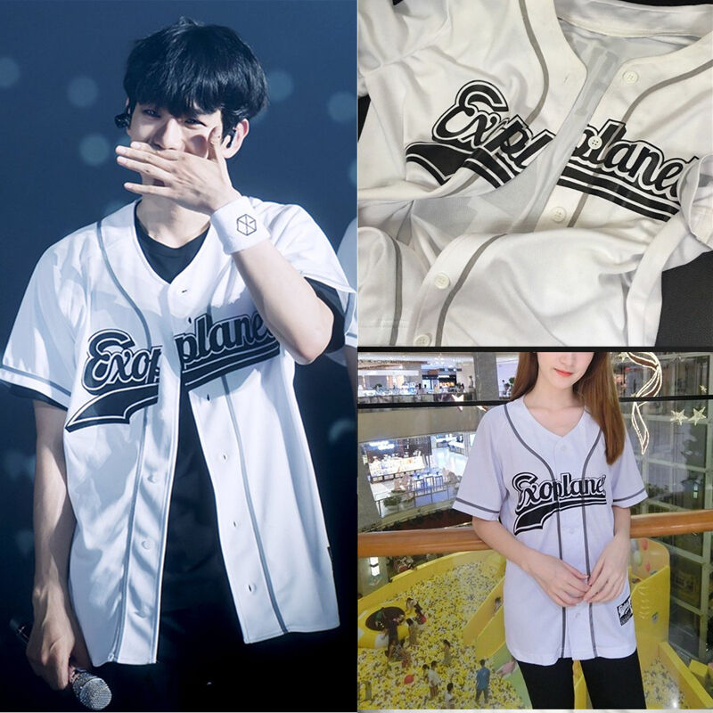 kpop exo exo rdium t shirt baseball jersey baekhyun tshirt unisex chanyeol tee ebay. Black Bedroom Furniture Sets. Home Design Ideas