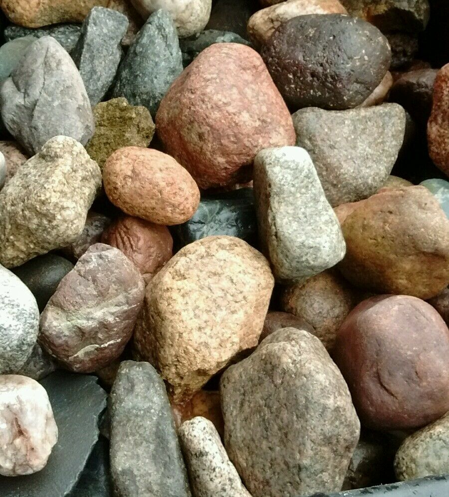 Natural River Rock : Lb lot of natural river and mountain rock for