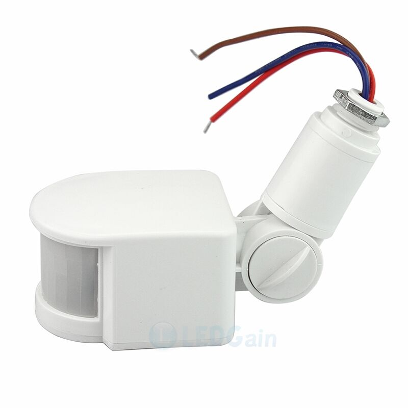 180 12M Outdoor Security PIR Infrared Motion Sensor Detector Switch LED Ligh