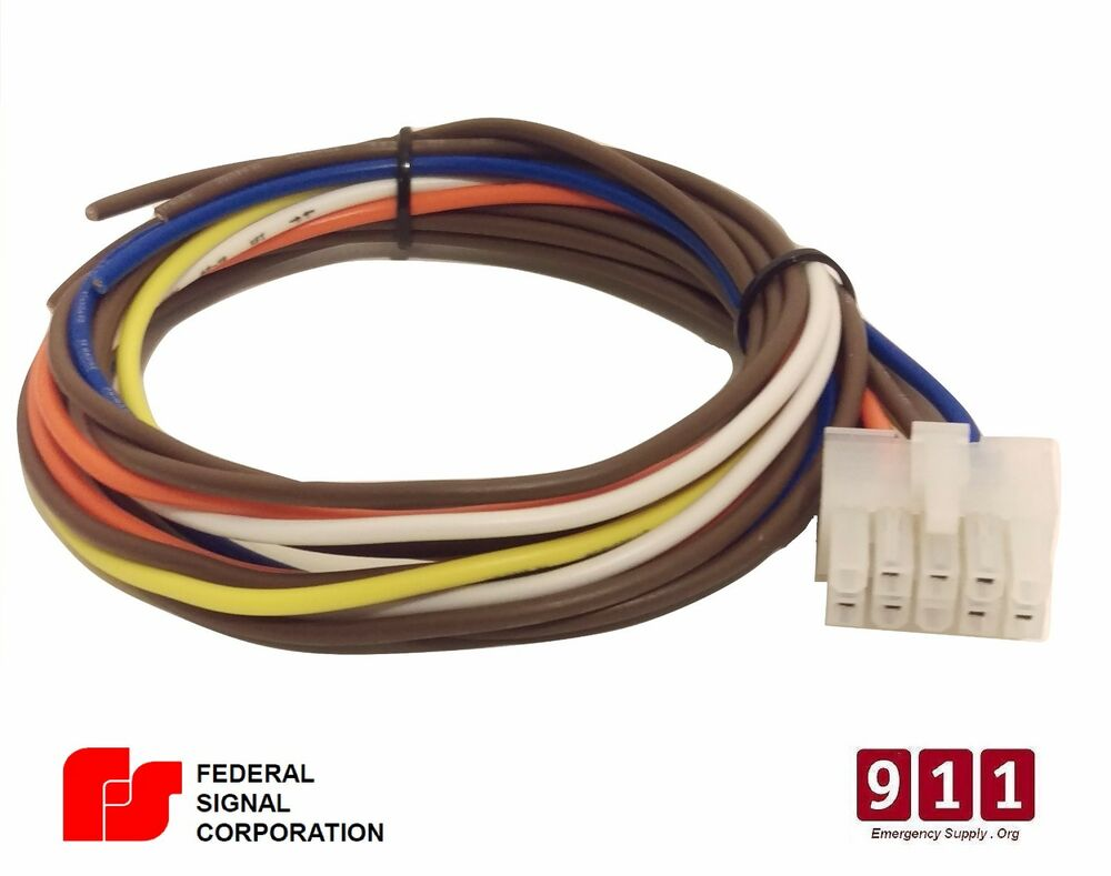 federal signal pa300 10 pin wiring cable kit rear. Black Bedroom Furniture Sets. Home Design Ideas