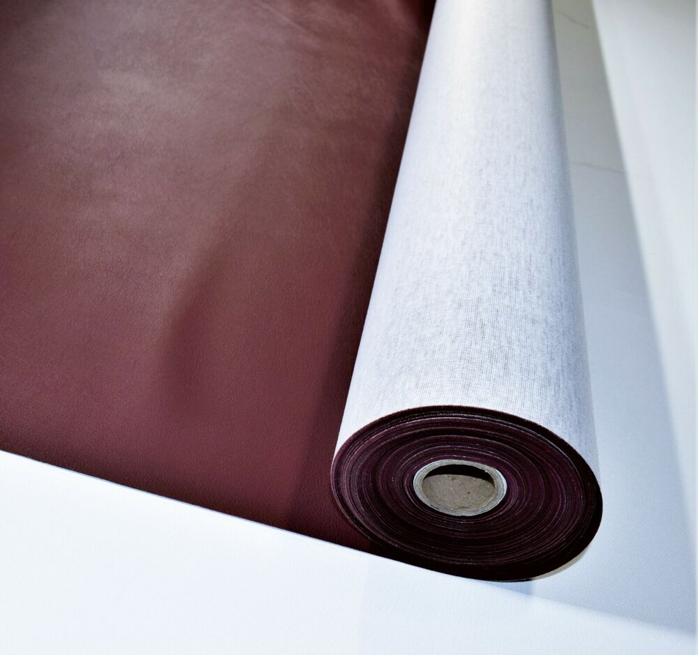 5 yard roll maroon faux leather auto upholstery fabric vinyl 54 wide pleather ebay. Black Bedroom Furniture Sets. Home Design Ideas