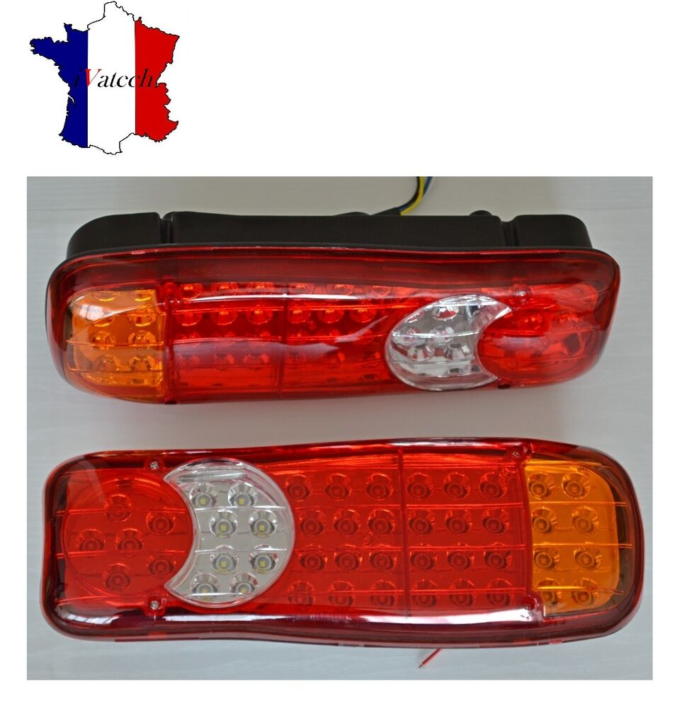 paire led 12v feux arrieres pour iveco scania daf man camion remorque fourgon ebay