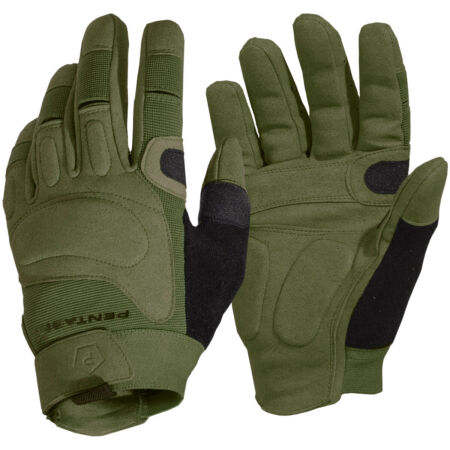 img-Pentagon Karia Gloves Patrol Mens Combat Airsoft Double Layer Padded Gear Olive