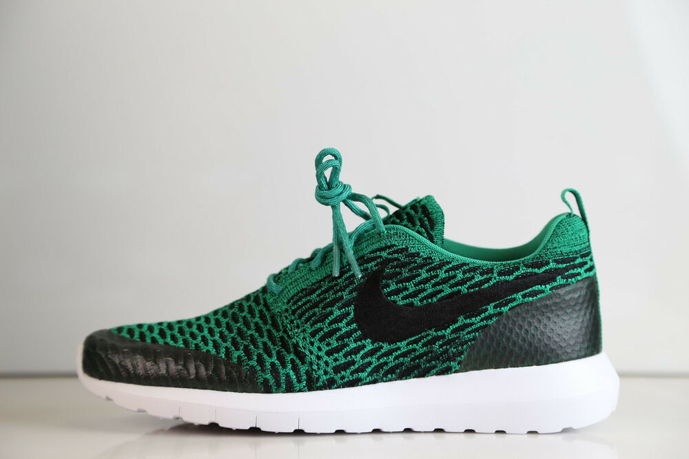 100% authentic 0a72b d54a4 Details about Nike Roshe Run NM Flyknit SE Lucid Green 816531-300 8-12 free  1 supreme