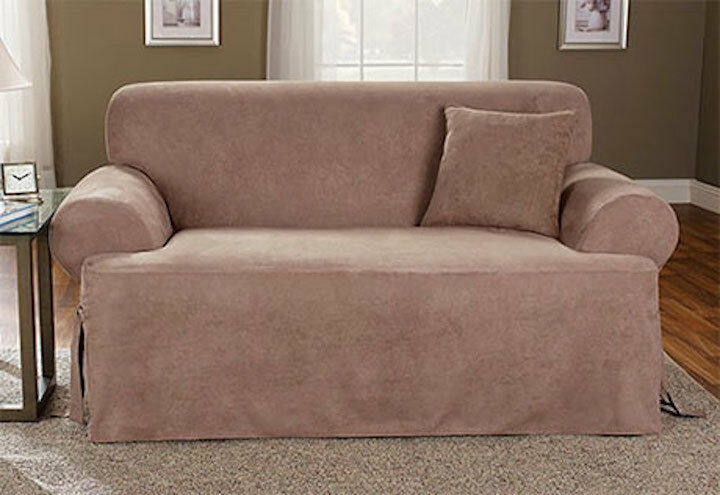 Sure Fit Loveseat Slipcover Soft Suede T Style Cushion Sable Ebay