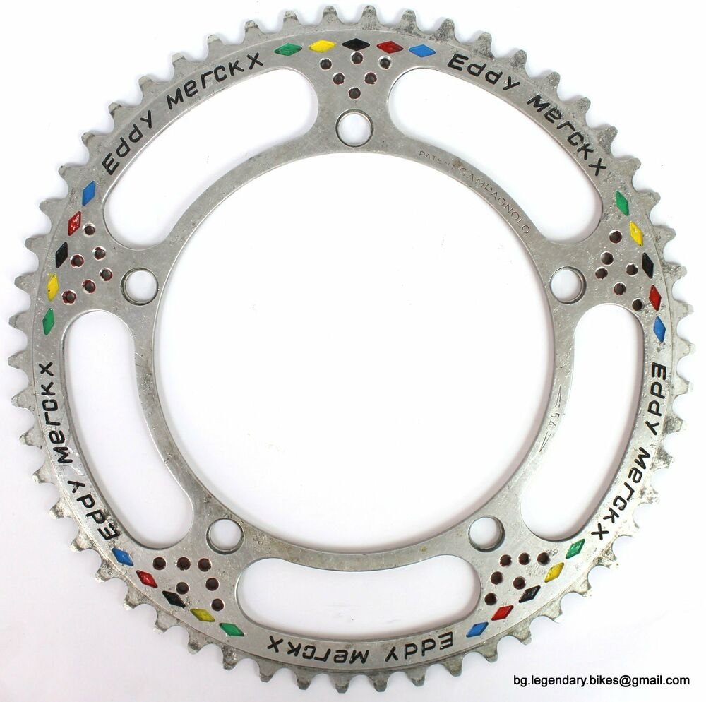 Vintage eroica campagnolo record chainring engraved eddy for Mercatone zeta