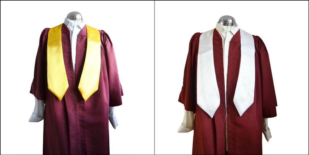 Choir Robe Gown/Sash Stole Set Burgundy Women/Men Priest Church ...