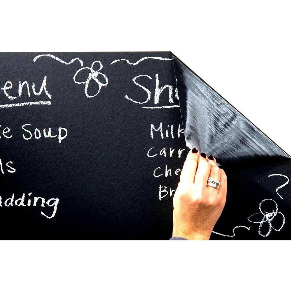 Blackboard Vinyl Chalkboard Wall Sticker Removable ...