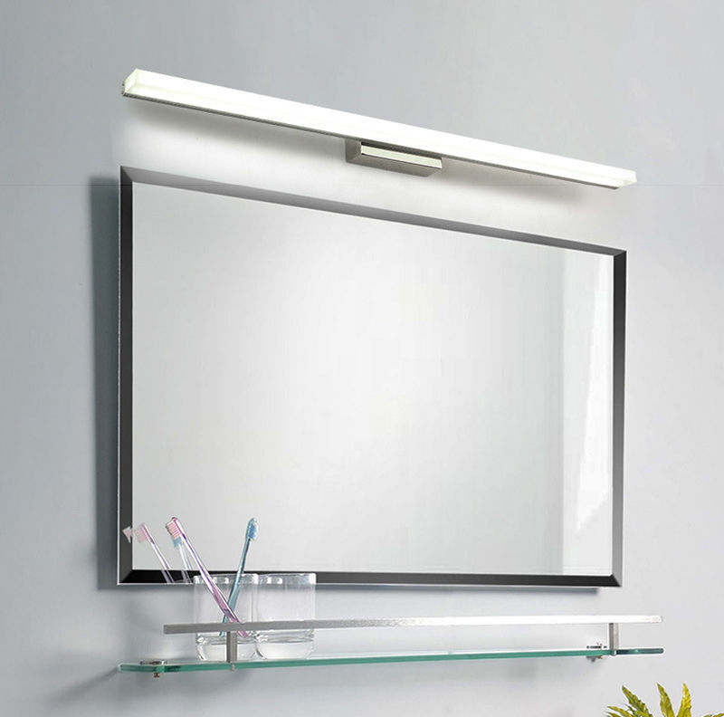 Bathroom Vanity Light Acrylic Led Mirror Front Light Make Up Wall Lamp Fixtures: Mirror Light LED Bathroom Wall Mirror Front LED Lighting Waterproof Anti-fog