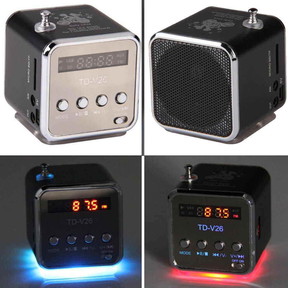 portable micro sd tf usb mini stereo music player fm radio pc mp3 4 xg ebay. Black Bedroom Furniture Sets. Home Design Ideas