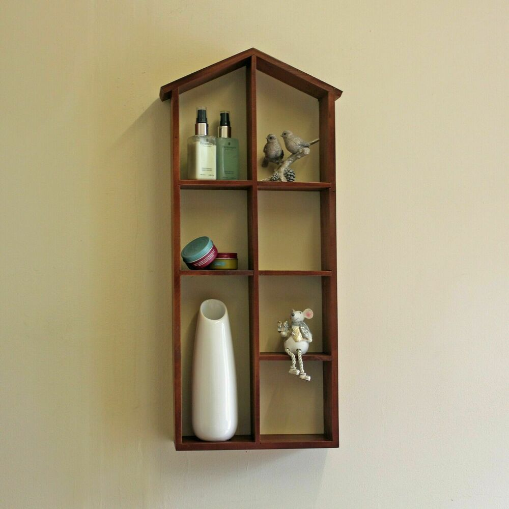one matt wall mount display cube shelf hidden bracket bookshelf cd storage unit ebay. Black Bedroom Furniture Sets. Home Design Ideas