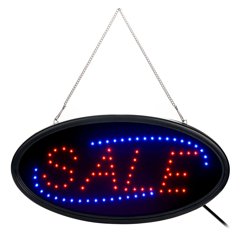 agptek bright led open business sign neon light animated motion on off switch ebay. Black Bedroom Furniture Sets. Home Design Ideas