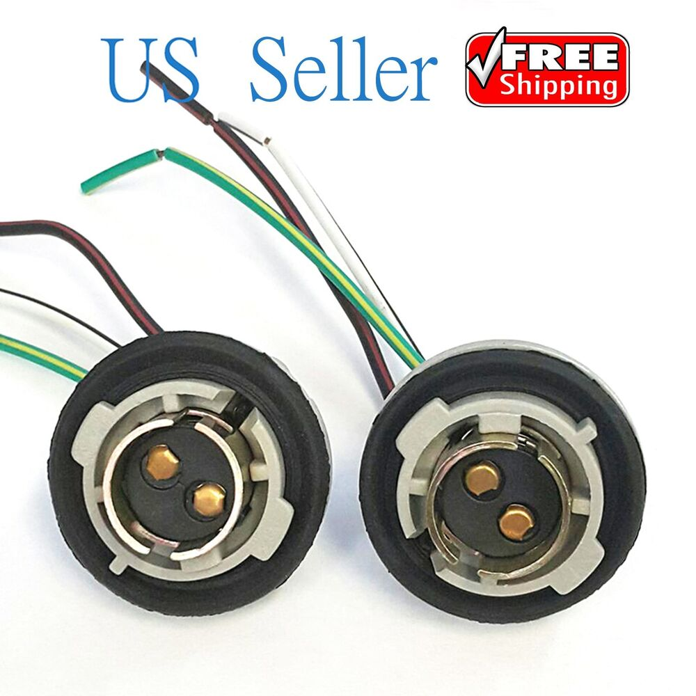 Led Indicator Wiring Harness Auto Electrical Diagram Light With Switch And Relay Single Channel Dt 2x 1157 Turn Brake Bulb Socket Connector Wire