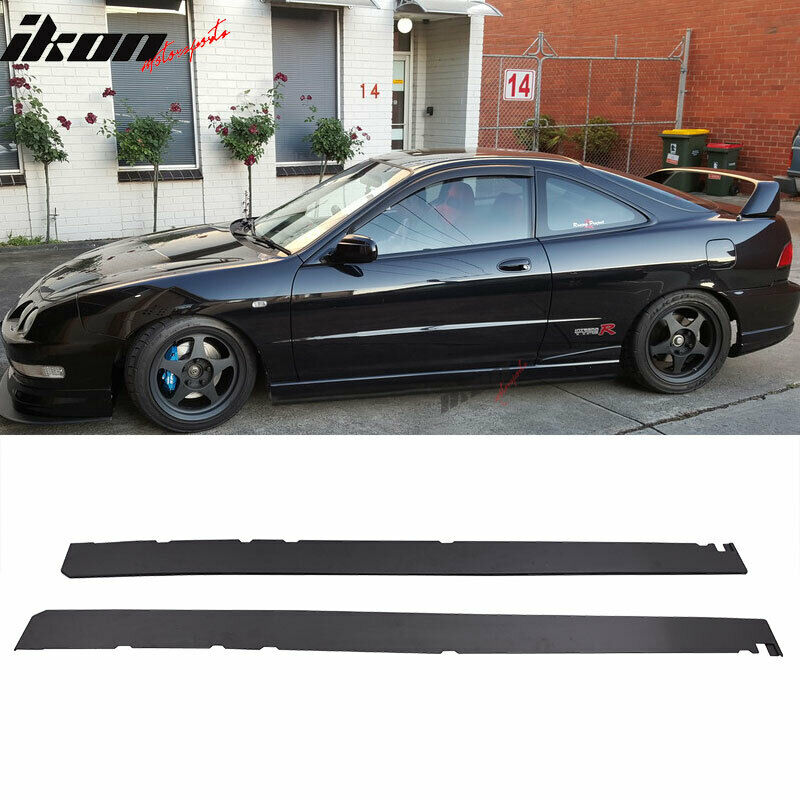 Details About Fits 97 01 Acura Integra Add On Side Skirts Extensions Pp