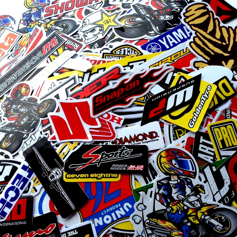 Yamaha Motorcycle Helmet Stickers