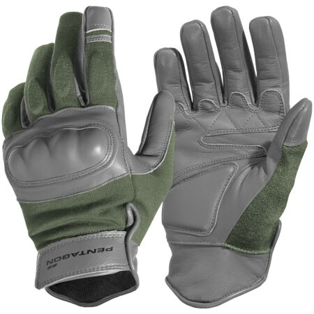 img-Pentagon Tactical Storm Gloves Airsoft Paintball Patrol Army Combat Gear Olive