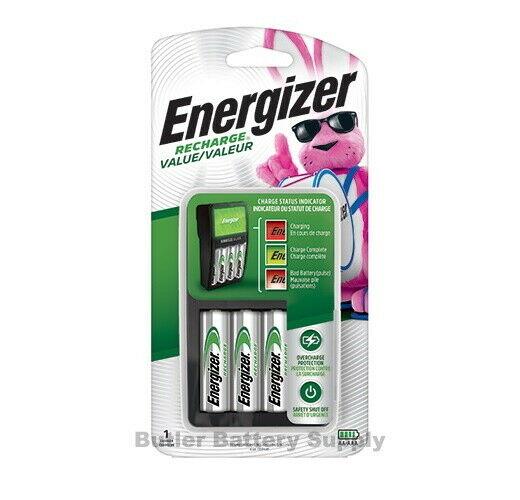 energizer value charger chvcmwb 4 with 4 rechargeable aa nimh batteries ebay. Black Bedroom Furniture Sets. Home Design Ideas