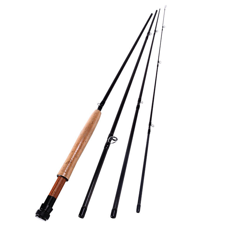 Fly fishing rod spinning 4 sections fishing tackle fly for Ebay fishing poles