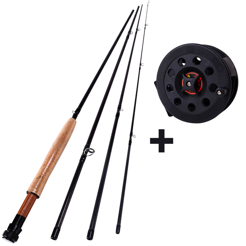 Telescopic fly fishing rod with reel combo trout saltwater for Trout fishing rod and reel