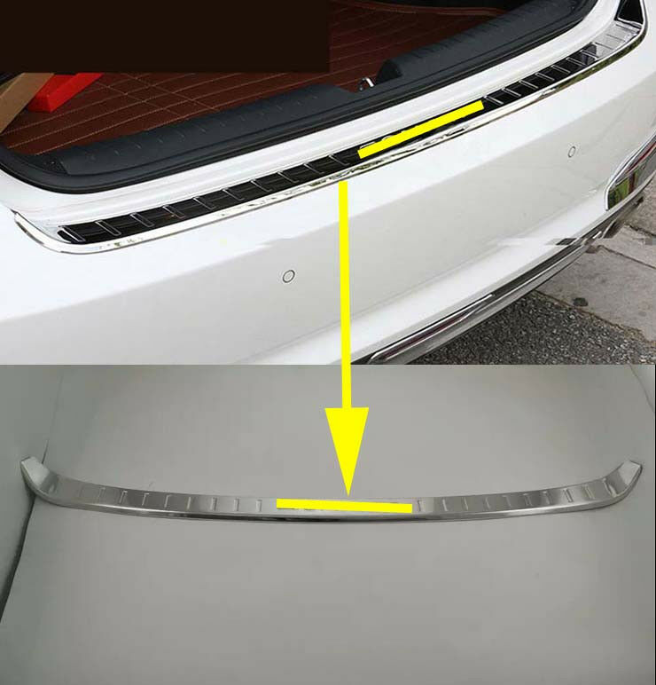 Steel Cover Rear Outer Bumper Protector For 2015 2017