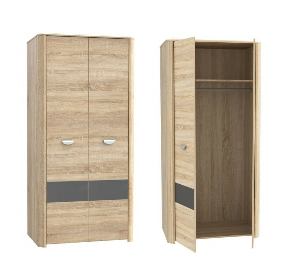 kleiderschrank yoop jugendzimmer schrank sonoma eiche ebay. Black Bedroom Furniture Sets. Home Design Ideas