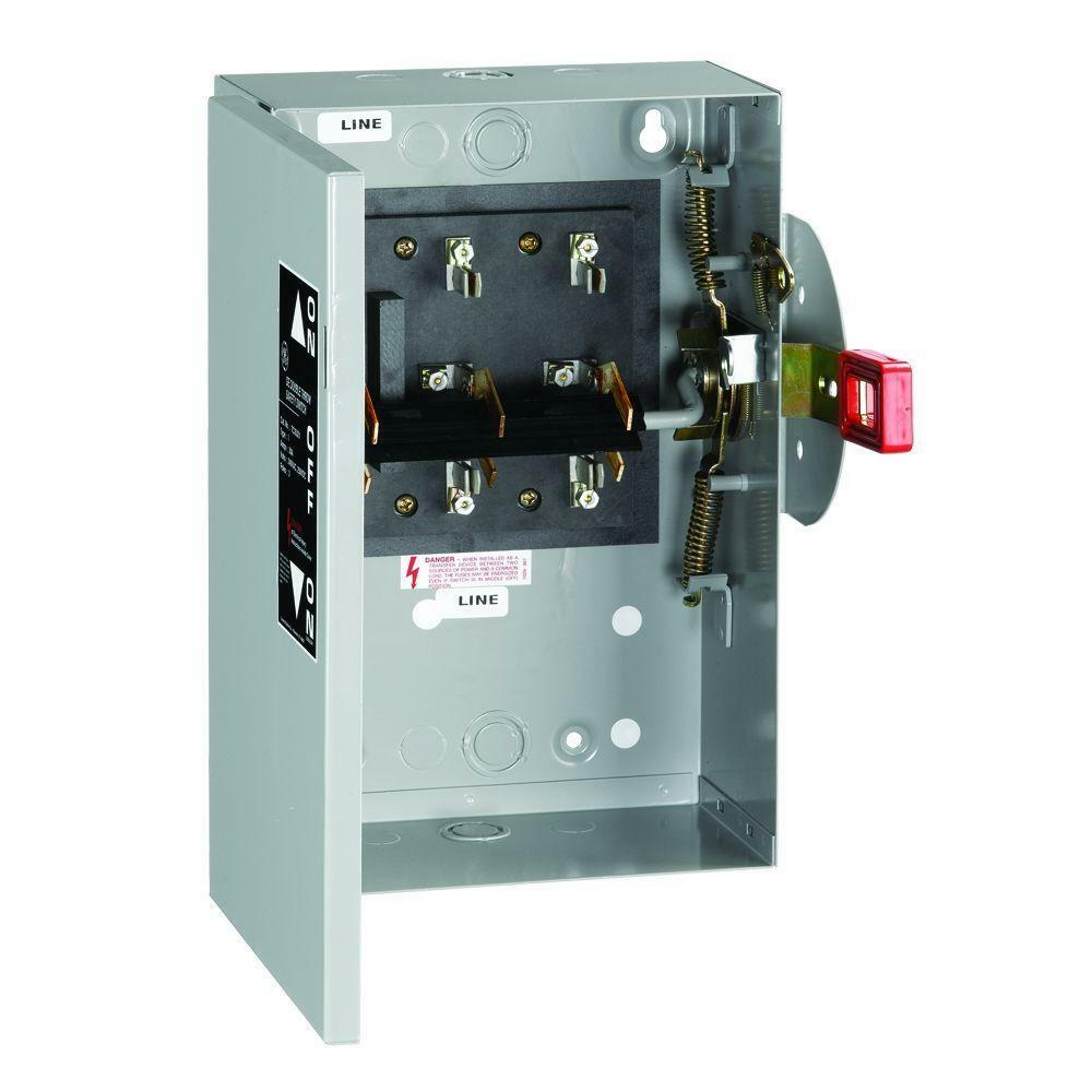240v Tc35321 Ge Nonfuse 30a Indoor Double Throw Electrical
