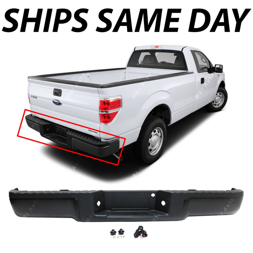 1999 Mustang Bumper Cover >> NEW Primered - Complete Rear Steel Bumper Assembly For 2009-2014 Ford F150 Truck | eBay