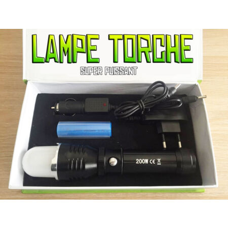 img-LAMPE TORCHE 4000 LUMENS 200W LED CREE 3 MODES FLASHLIGHT SUPER PUISSANT + PILE