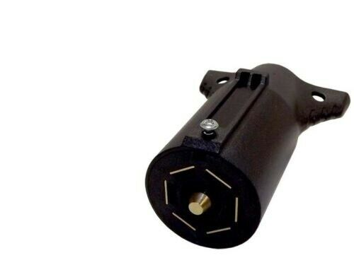 7 Way Round RV Style Trailer Light Plug Connector