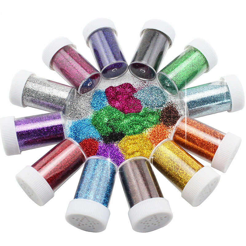 Holographic iridescent glitter pots tophigh quality nail for Arts and crafts glitter