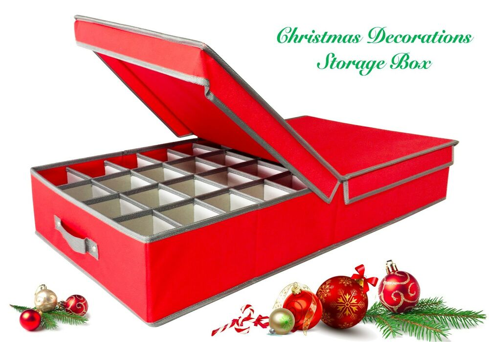Christmas Decorations, ORNAMENT STORAGE BOX - TRUE AUSSIE SELLER ...