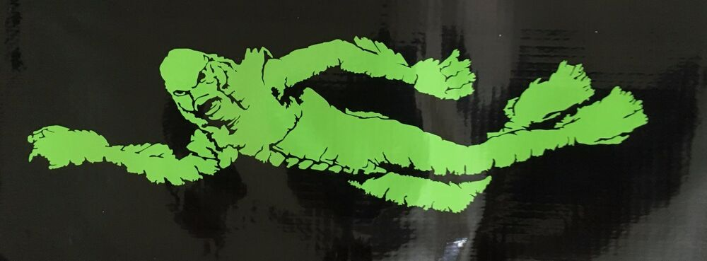 Creature from the black lagoon vinyl decal car laptop 8 for Creature from the black lagoon coloring pages