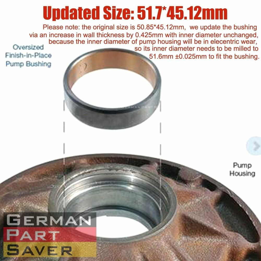 Transmission Torque Converter Oil Pump Bushing Zf5hp19 Vw