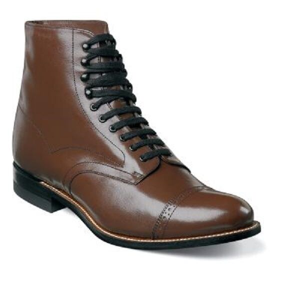 Mens Madison 00015 Brown Stacy Adams High Top Boot Biscuit