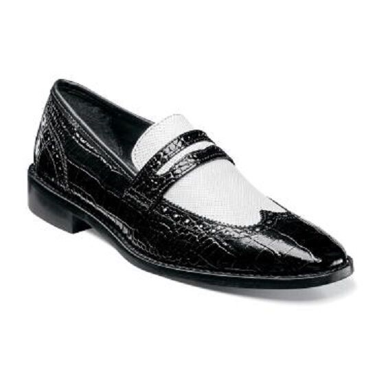 Mens White Wingtip Shoes