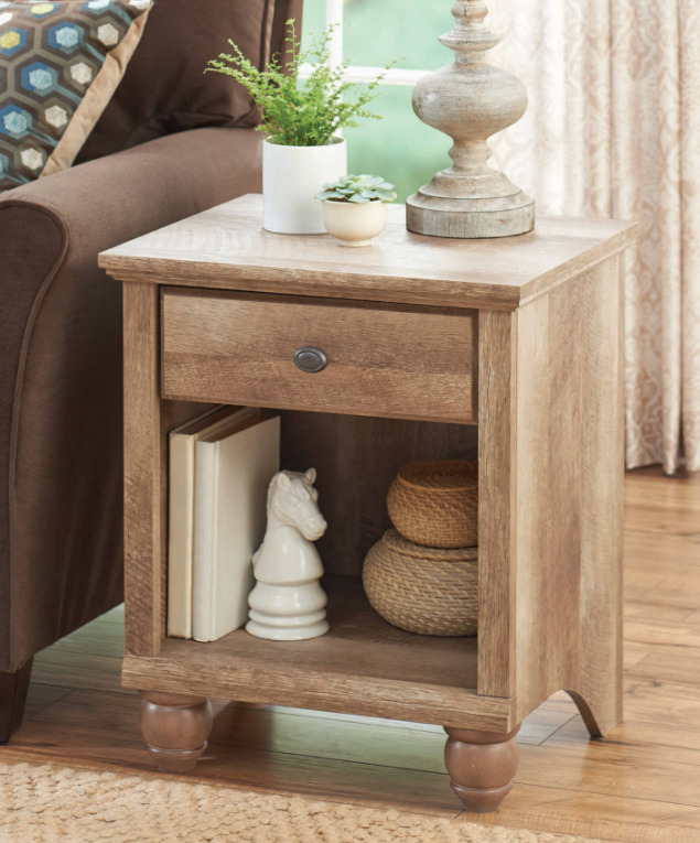 Side Table With Drawer For Living Room
