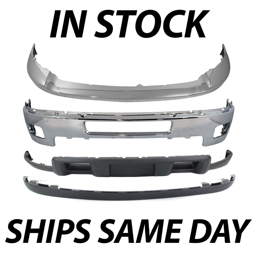 Metal Bumper Kit : New chrome steel front bumper kit for  chevy