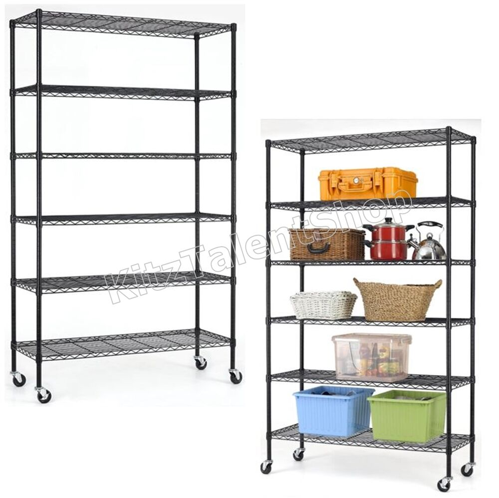 storage shelving units black 6 tier storage shelf garage shelving unit 26896
