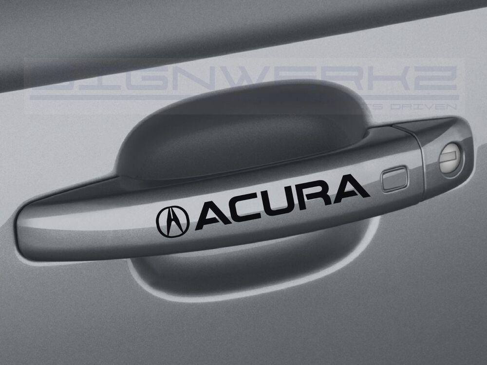 Acura Door Handle Decal Sticker Logo Tsx Tl Tlx Rl Mdx Rdx