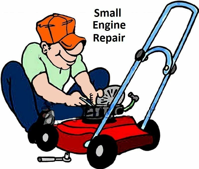 Small Engine Repair : Small engine repair books fix lawnmower mower bike boat