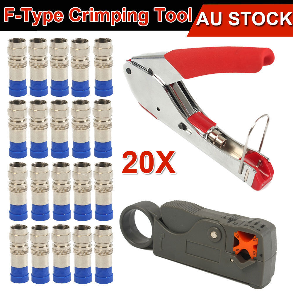 f type compression crimper hand tool rotary coaxial cable cutter crimp connector ebay. Black Bedroom Furniture Sets. Home Design Ideas