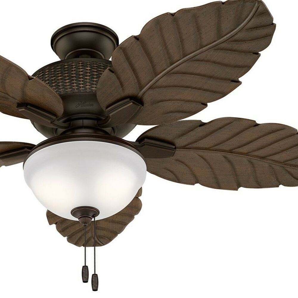 "Hunter Fan 52"" Outdoor Ceiling Fan with LED Light Kit"