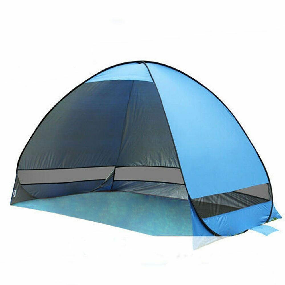 Portable Pop Up Shelters : Portable instant pop up beach canopy uv sun shade shelter